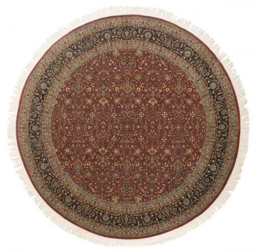 9×9 Tabriz Red Oriental Round Rug 039237