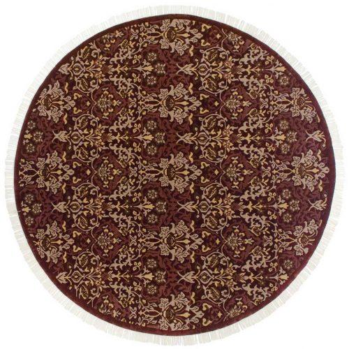 9×9 William Morris Burgundy Oriental Round Rug 037866